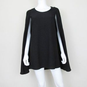 Nasty Gal   Catherine Black Cape Mini Dress XS